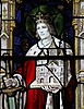 Stained glass portrait of King Edwin of Northumbria