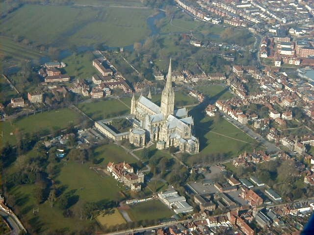 Salisbury Cathedral from the air - geograph.org.uk - 503638