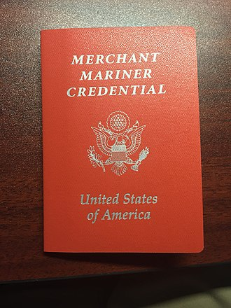 Second engineer - A sample of a credential given by the US Coast Guard to all officers, containing what vessels they are certified to work aboard