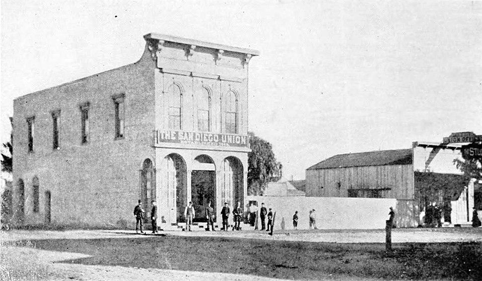 San Diego Union newspaper building (c. 1870s)