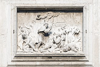 San Rocco, Venice - Image: San Rocco (Venice) San Rocco healing the plague victims by Giovanni Morlaiter