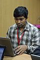 Sanchayan Santra - Bengali Wikipedia Editathon - Bengali Wikipedia 10th Anniversary Celebration - Jadavpur University - Kolkata 2015-01-10 3184.JPG