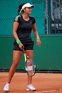 sania mirza  mirza at the 2011 french open where she reached the finals in doubles alongside vesnina