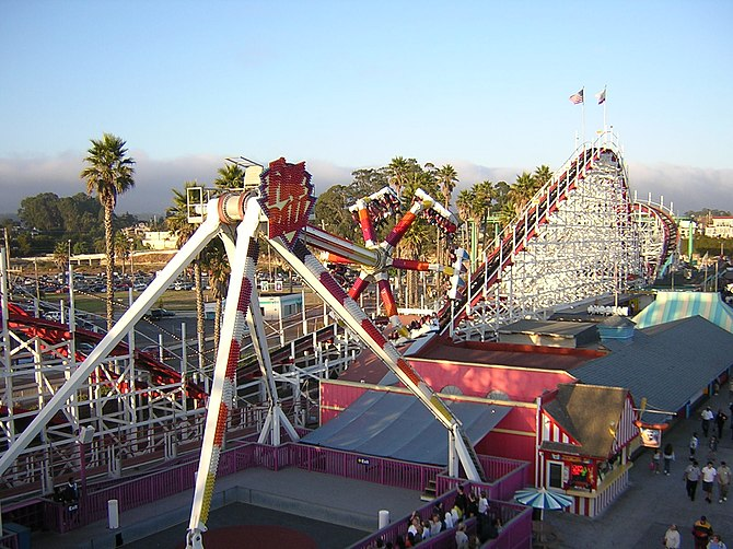 A scene from Santa Cruz Beach Boardwalk (SCBB)...