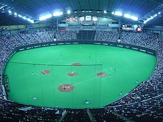Sapporo Dome - Baseball configuration