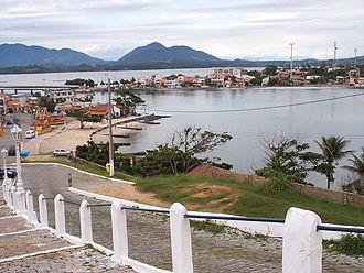 Saquarema - A view of Saquarema's lake and church steps