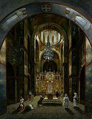 Interior of the Saint Sophia's Cathedral in Kiev.
