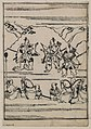Scenes related to the Soga family - three warriors, one with two swords and two with bow and arrows; retainers holding the reins of horses in the foreground LCCN2008661137.jpg