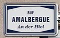 Schëld Rue Amalbergue - An der Hiel, Rodange.jpg