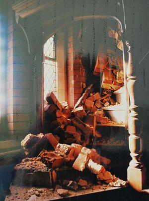 Hazelwood School - Hazelwood Chapel destroyed in the storm of 1987