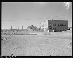 Reliance, Wyoming - Schoolhouse and playground for miners' children (1946).