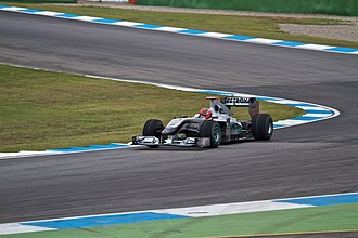 2010 German Grand Prix - Michael Schumacher took two points at his home Grand Prix.
