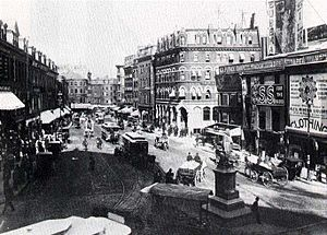 Scollay Square - Scollay Square, Boston, after September 1880
