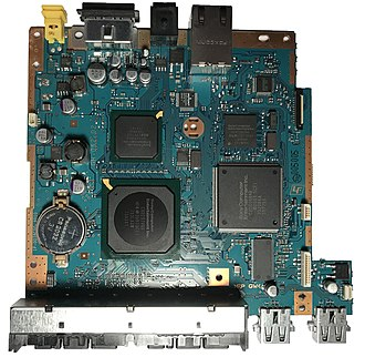 PlayStation 2 technical specifications - An SCPH-79001 motherboard.