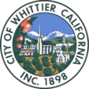 Official seal of Whittier, California