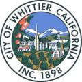 Seal of Whittier, California.png