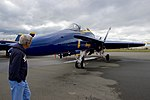 Secretary Kerry Looks at F-A-18 Fighter Jets Used by the Blue Angels, the U.S. Navy's Flight Demonstration Team (28504760912).jpg