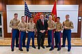 Secretary Pompeo Meets With U.S. Embassy Tashkent Marine Security Guard Detachment (49481926177).jpg