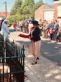 Secretary of State for Northern Ireland Karen Bradley MP lays a wreath at the memorial at Guillemont (29365844788).png