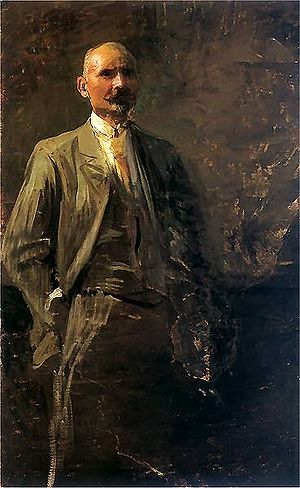"Society of Polish Artists ""Sztuka"" - Image: Selfportrait of Leon Wyczółkowski (1900)"