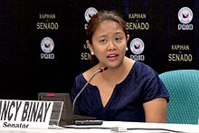 Senator Nancy Binay at Kapihan sa Senado 7.31.14.jpg