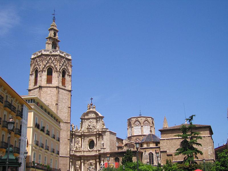 Vista meridional de la Catedral de Valencia
