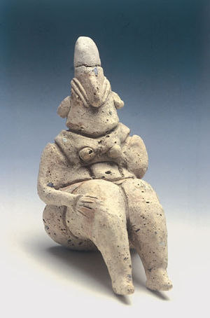 Yarmukian culture - Mother goddess clay figurine, Sha'ar HaGolan