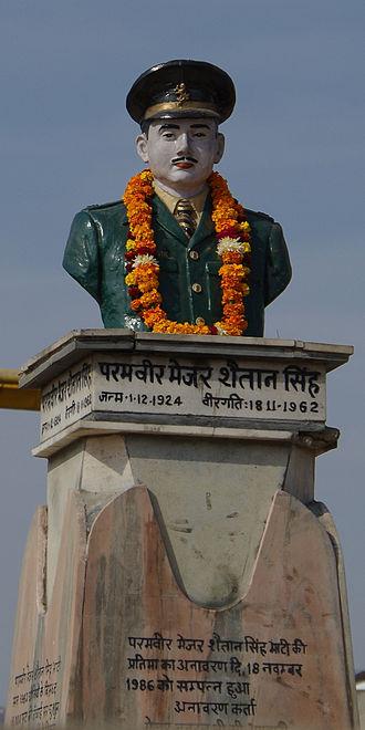 Shaitan Singh - Statue of Shaitan Singh in a central square of Jodhpur, Rajasthan, India