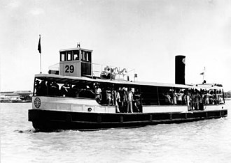 Shanghai Ferry - A Shanghai Ferry sailing on the Huangpu River before 1949