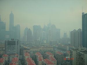 English: Shanghai Smog