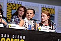 Shannon Purser, Millie Bobby Brown & Sadie Sink (36046773952).jpg