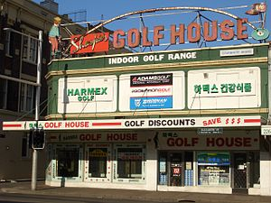 Central, New South Wales -  The famous neon sign over Sharpie's Golf House