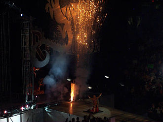 New Year's Revolution (2006) - Shawn Michaels performing his entrance.