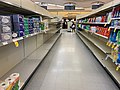 Shelves void of cleaning supplies in a Canadian supermarket.jpg