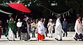 Shinto wedding procession at Meiji Shrine, Japan; April 2006.jpg