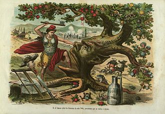 Fuero - Spanish satiric depiction against the fueros embodied in the Tree of Gernika