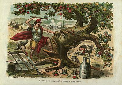Si el famoso árbol de Guernica da este fruto, procuremos que no vuelva á retoñar, La Madeja Política, 2 de mayo de 1874.jpg