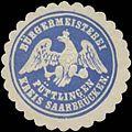 Siegelmarke Bürgermeisterei Püttlingen Kreis Saarbrücken W0379747.jpg
