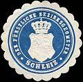 Siegelmarke Der Fürstliche Bezirksgeometer - Schleiz W0255743.jpg