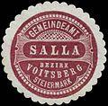 Siegelmarke Gemeindeamt Salla Bezirk Voitsberg Steiermark W0343763.jpg