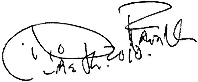 Signature of Aretha Franklin