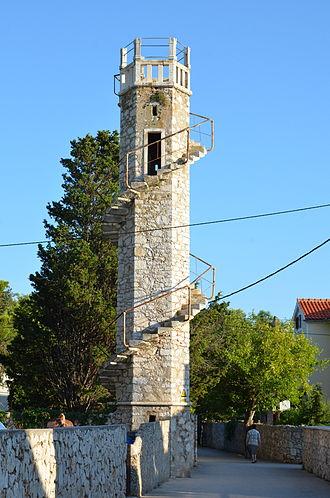 Silba - Toreta - iconic observation tower on the island of Silba