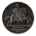 Silvermedalj, minnespenning utdelad vid tornerspelet på Ekolsund 1776 - Skoklosters slott - 99606.tif