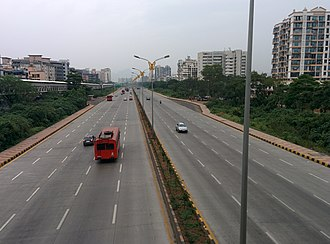 Sion Panvel Highway - Image: Sion Panvel Highway aerial view