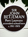 Sir John Betjeman Poet Laureate attended school here c1911-1915.jpg