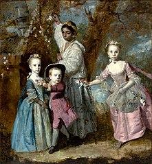 Elisabeth, Sarah e Edward, filhos de Edward Holden Cruttenden