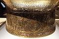 Siria, bacile detto battistero di s.luigi, 1320-40 ca, firmato muhammad ibn al-zayn, con restauri del 1821, ottone incr. d'oro, arge e pasta nera 09.JPG