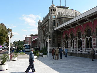 Sirkeci railway station - A lateral view of the Sirkeci terminal.