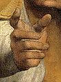 Sixtinische Madonna - Rechte Hand von Papst Sixtus.jpg