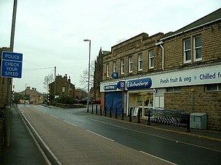 Skelmanthorpe village in the parish of Denby Dale in the Kirklees borough, West Yorkshire, England